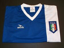 Italy National Soccer Futbol Football Jersey~BLUE~Gli Azzurri~Men's LARGE~Score