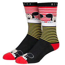"Neff x Disney ""Peek Mickey Mouse"" Socks (Red) Men's Knit Cartoon Sock"