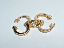VINTAGE 14k YELLOW GOLD 3D HANDCUFFS CHARM they open up