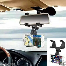 Auto Car Rearview Mirror Mount Stand Holder Cradle For Universal Cell Phone GPS