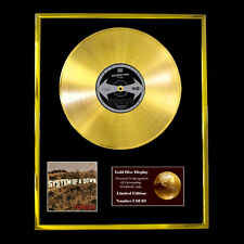 SYSTEM OF A DOWN TOXICITY CD  GOLD DISC VINYL LP FREE SHIPPING TO U.K.