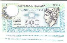 20213) ITALIA LIRE 500 MERCURIO DEC. 20-12-1976 LETTERA T FDS UNC