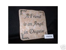 Christian Laser Engraved Ceramic Tile Angel Friend WOW