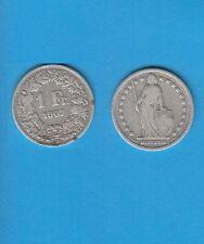 § Suisse Swiss Confédération Helvétique 1 Franc en argent 1907