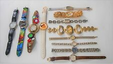 NICE 12-PC LOT NON WORKING WATCHES FOR WOMEN EXCELLENT PARTS ADVANCE GUESS OMNI