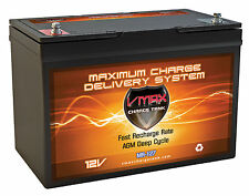 VMAX MR127 12V 100Ah AGM Marine Battery for Newport Vessels Smart Battery Box