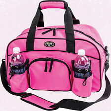 "Womans Ladies 18"" Sport Duffle Gym Bag Pink Tote Carry On Overnight Yoga Workout"