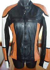 Harley-Davidson Womens NWOT Leather Fitted Jacket Cafe Racer Medium TALL MT or M