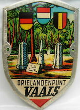 Drielandenpunt Vaals used badge stocknagel hiking medallion mount G5077