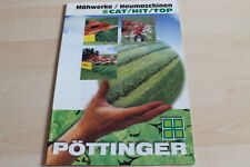 139216) Pöttinger Mähwerke Heumaschinen Cat Top Hit Prospekt 11/1997