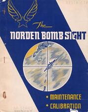1943 NORDEN M SERIES BOMBSIGHT MAINTENANCE/CALIBRATION FLIGHT MANUAL HANDBOOK-CD