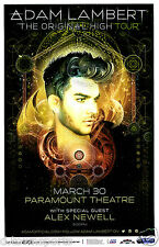 ADAM LAMBERT The Original High Tour 2016 Denver 11x17 Concert Poster / Gig Flyer