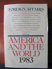 Foreign Affairs Magazines - America And The World 1983