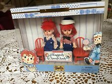 BARBIE KELLY TOMMY DOLL RAGGEDY ANN & ANDY 1st IN THE COLLECTION 1999 NRFB