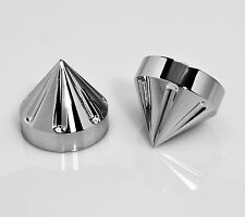 YZF R1 1000 YZF1000R1 04-08 POLISHED BILLET SPIKE FORK FORKS TUBE CAPS COVER 201