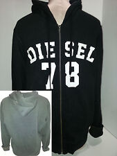 DIESEL Mens Hoodie Sweatshirt Jacket Coat Full Zip Size M Medium Black Cotton