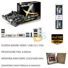 UPGRADE SCHEDA MADRE HDMI USB 3.0 + CPU DUAL CORE 3,80 GHZ + RAM 4GB GAMING