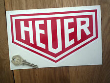 HEUER PLAIN 200mm Classic Sports Racing Car STICKER F1 Race Sponsors Motorcycle