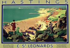 Southern Railway for Hastings & St Leonards  Train Rail Travel  Poster Print