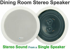 "White Dining Room In-Ceiling/In-Wall Dual Stereo Speaker  6.5""  100W 952.537"