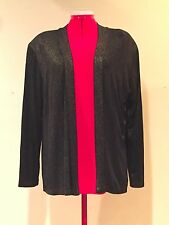 MADE IN HEAVEN COVER JACKET Black w/Gold Thread Sparkles Lt Shoulder Pads Sz Sml