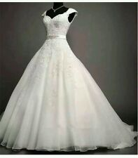 New 2015 White /Ivory Lace Wedding Dress Bridal Gown Size 6-18 UK