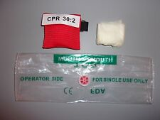 50 Xtra Large Red CPR Mask Keychain Face Shield with heavy duty GLOVES
