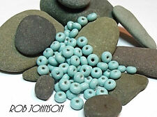"Handmade Lampwork Beads, ""Light Turquoise"". SRA, UK"