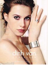 PUBLICITE ADVERTISING 065  2009  DINH VAN  joaillier