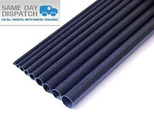 1 x OD 22mm x ID 20mm x 1000mm (1 m) 3k Carbon Fiber Tube (Roll Wrapped) Fibre