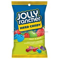JOLLY RANCHER 3.8 oz Bag HARD CANDY FRUIT 'N SOUR Green Apple+Cherry Exp. 3/18+