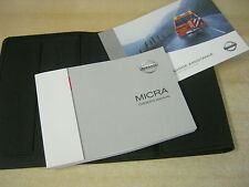NISSAN MICRA HANDBOOK OWNERS MANUAL WALLET 2003-2008 INC SERVICE BOOK