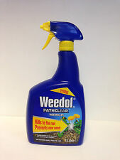 Weedol Pathclear Double Action Weedkiller Spray Gun  1L Weed Kill Paths Fast