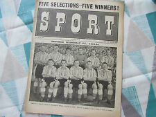SPORT Mag  SHEFFIELD Wednesday  1953-54  FOOTBALL Team Cover pic  19-25/03/54