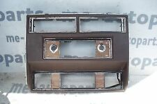 1980-1985 FLEETWOOD DEVILLE RWD CENTER CONSOLE BEZEL RADIO FACE PLATE BURGUNDY