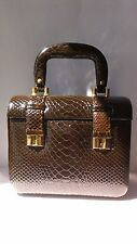 Vintage Tano Of Madrid Spain Brown Leather Satchel Handbag Purse