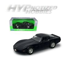 WELLY 1:18 1982 CHEVROLET CORVETTE HT DIE-CAST BLACK 12546W-BK