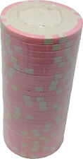 Poker Chips (25) S6 Pink 11.5 g Clay Composite Custom Inlay Ready FREE S/H *