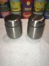 HTF set of TCHIBO Conran Design Stainless Coffee Condiment Shakers