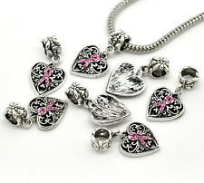 1PC JM European Charm Dangle Beads Fit Bracelets Pendants Rhinestone CZ Crystal