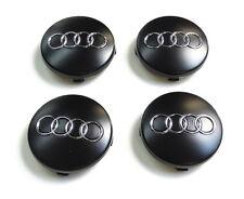4x Original Audi Hub cap Cap for Aluminium rim Black Chrome rings 4B0601170 LT7