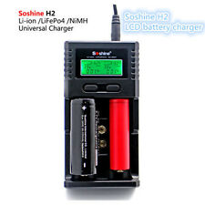 SoShine H2 LCD Charger For Li-ion/LiFePO4 26650 18650 9V NiMH C AA AAA Battery