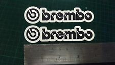 Brembo Decal Sticker x2 Moto GP laptop helmet bike car scooter Black & white
