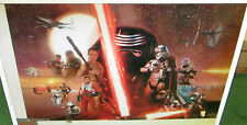 STAR WARS POSTER COLLECTABLE LIMITED PRODUCTION RUN 2015 FORCE AWAKENS