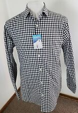 NWT $79 Men's MURANO SLIM FIT Sport Shirt Gray/White Gingham Pattern Sz Large!