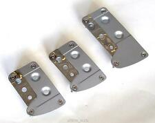 SILVER CHROME FOOT COVERS PEDAL PADS FOR RENAULT CLIO SCENIC MEGANE LAGUNA MODUS