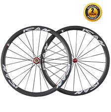 ICAN 38mm Clincher Carbon Aerodynamic Wheelset 23mm Wide Carbon Hub R36 20/24H