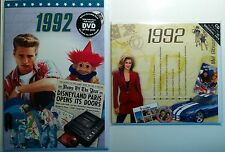 1992 (24th) Birthday Gifts Set - 1992 DVD , Pop CD and Card - CD Card Company.