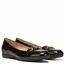 NATURALIZER CALE Ladies Brown Square Toe Croc Print Texture Loafer Sz. 9.5 M NIB