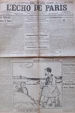 WW1 GUERRE 1914 - 1918 LOT 25/31 JOURNAL L ECHO DE PARIS OCTOBRE 1916 SOMME